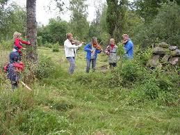 Slåtter i Hästilt 2007 02-Gunilla Persson med spelmansvänner underhåller slåtterfolket