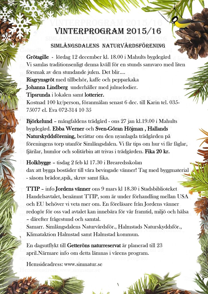 Bild på vinterprogrammet